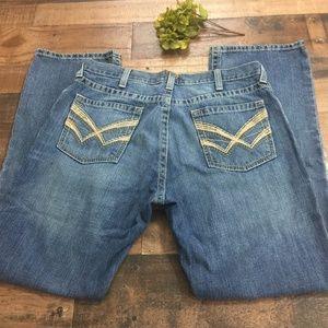 Ariat M4 Low Rise Boot Cut Blue Jeans Sz. 36 x 34